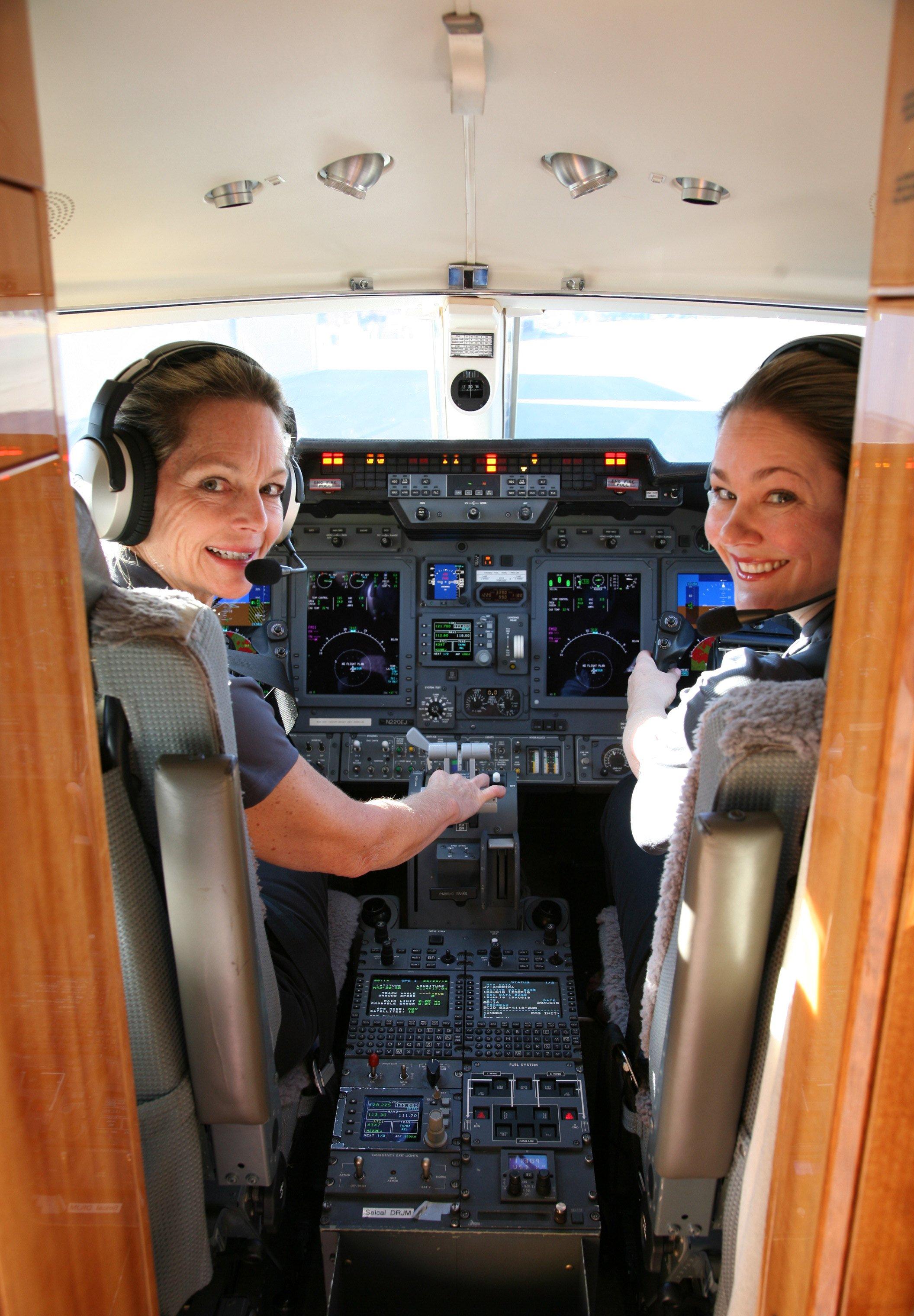 Pilots in a jet